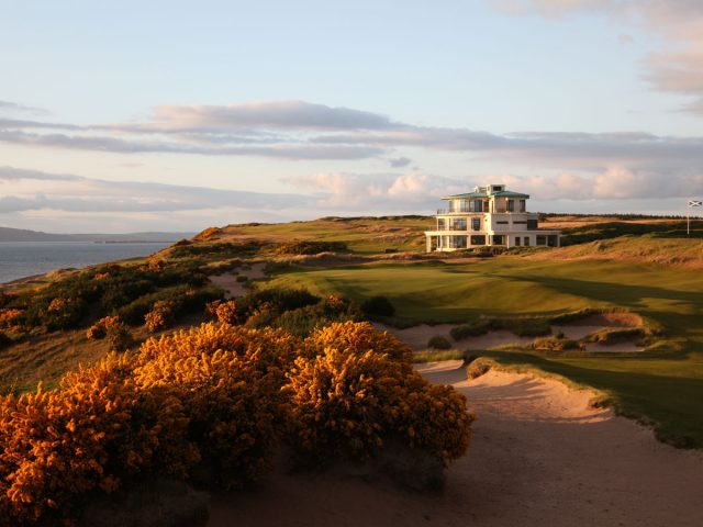 Castle Stuart 9th Green and Clubhouse