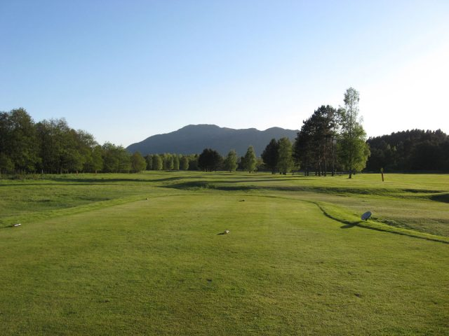 Newtonmore Golf Club 5th tee