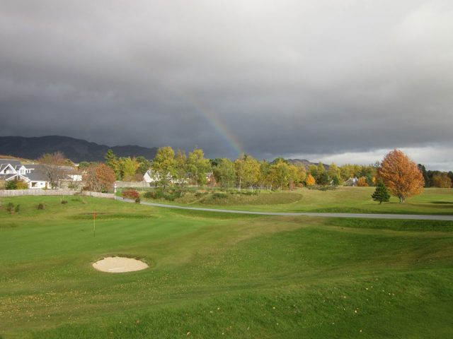 Newtonmore Golf Club 18th Green