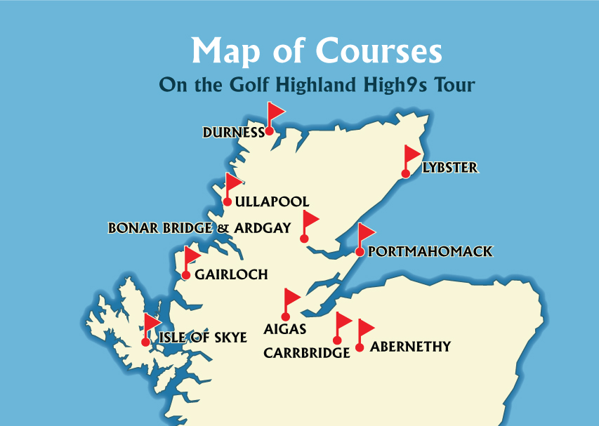 Golf Highland, High9s course map