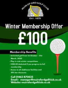 Winter Golf Membership Offer