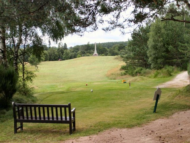 Abernethy Golf Club Eight Tee and Monument