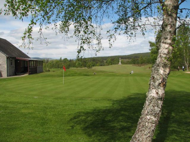 Abernethy Golf Club ninth green