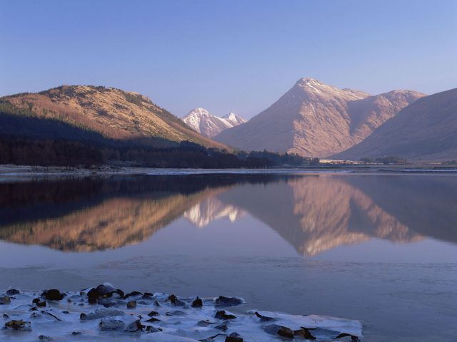 The Calm Waters of Loch Etive with Stob Dubh visible beyond, Lochaber