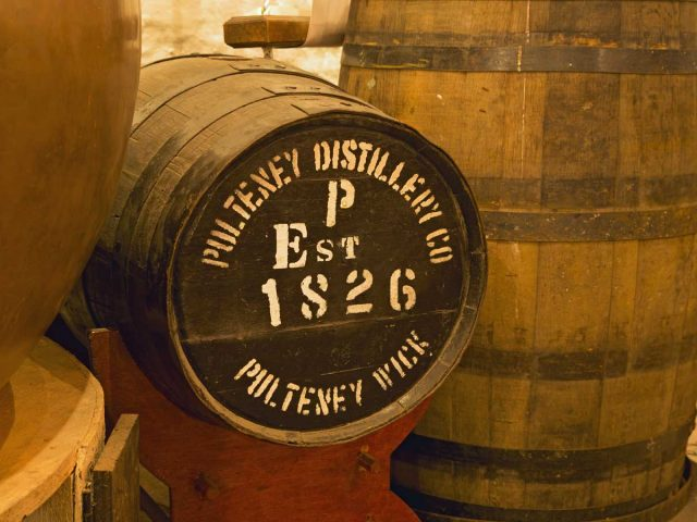 The Old Pulteney Distillery, in the Pulteneytown area of Wick, Caithness, Highlands of Scotland